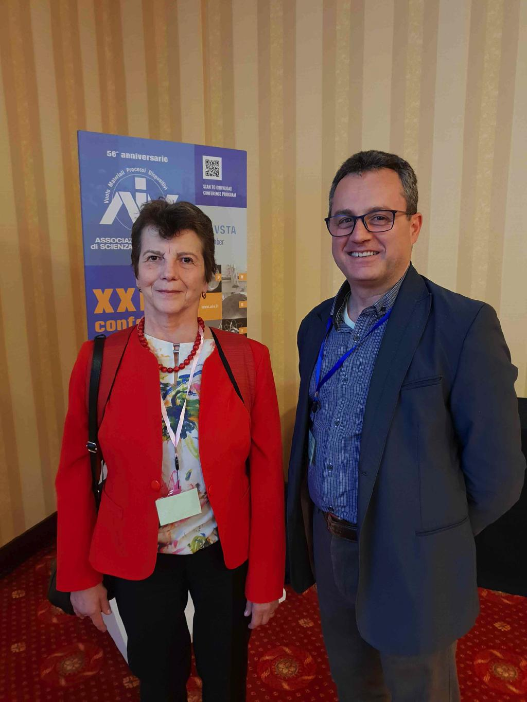 Prof. Maria Dinescu (in the picture with Francesco)