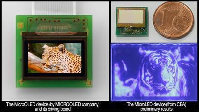 Microoled and CEA are setting up microOLED and microLED devices
